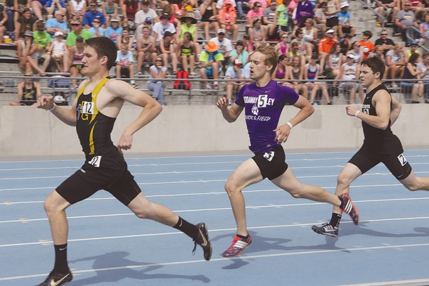 NV's Jared Corder captures a silver at state track.