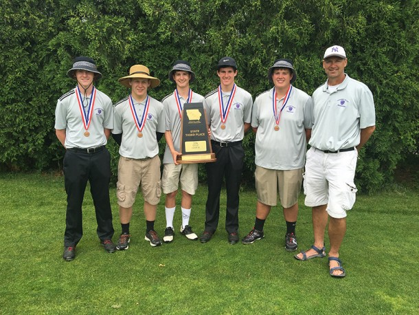 Nodaway Valley golfers brought home the third place trophy from state golf competition.